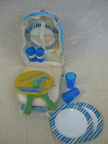 Picknickrucksack mit Geschirr, Kühlfach