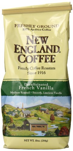 New England Coffee French Vanilla, Decaffeinated, 10 Ounce (Coffee Bean French Vanilla compare prices)