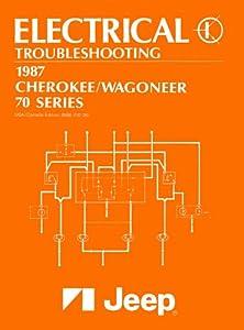 1987 Jeep Cherokee Wagoneer Wiring Diagrams Schematics Factory Specifications