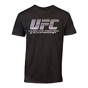 UFC Men's Chrome Logo Tee, Black, Large