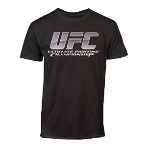 UFC Men's Chrome Logo Tee, Black, Large