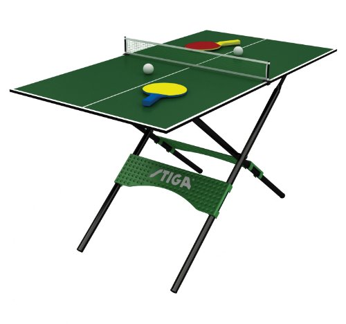 NEW Small Folding Mini Table Tennis Set 54u0026quot; Compact Ping Pong Ball Net Post Game