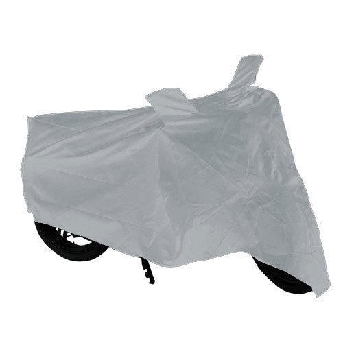 Autofurnish Universal Motorcycle Cover with Mirror Pockets (Silver)