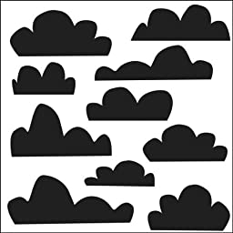 Crafters Workshop 122723 Crafters Workshop Templates 6 in. x 6 in. -Mini Clouds