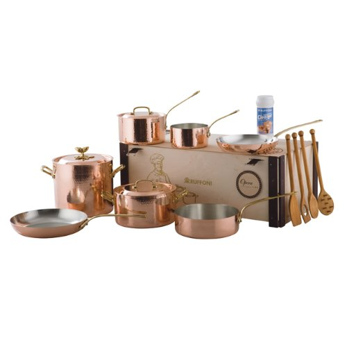 ruffoni opera decor 10 piece copper cookware