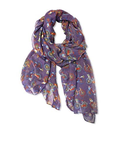 Printed Village Women's Bicycle Race Scarf, Purple