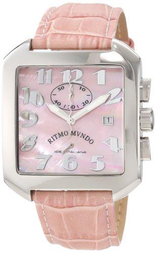 Ritmo Mundo Watches lightning discount: Ritmo Mundo Unisex 608/4 Pink Mother of Pearl Classic Quartz Chronograph Watch