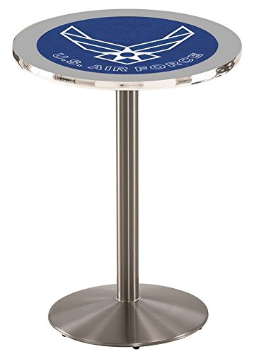 Air Force Falcons Pub Table With Stainless Steel Base coffee color stool metal leg living room dining room stool retail wholesale free shipping garden children stool green