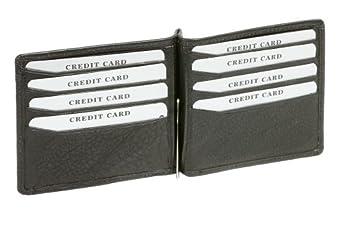 Dollar Clip Geldscheinklammer Geldklammer Money Clip LEAS in Echt-Leder, schwarz - ''LEAS Special Edition''