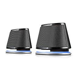 Satechi Dual Sonic Speaker 2.0 Channel Computer Speakers (Black) for Apple Macbook Pro Air / Asus / Acer / Samsung / Dell/ Toshiba / HP / Sony Vaio and More