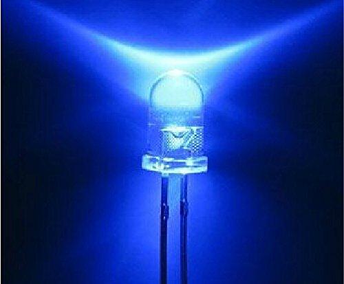 Lenbo Super Bright Led Electronics 100 Pcs Blue Color 5Mm Ultra Bright Led Bulb (Blue)