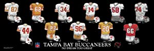 Framed Evolution History Tampa Bay Buccaneers Uniforms Print by The Greatest-Scapes