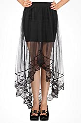 Trendybella Womens Mesh Skirt_7006_Black_FreeSize