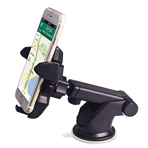 Auto-Lock Car Mount, Mostfeel Car Phone Holder Universal Windshield Dashboard Phone Holder Cradle for iPhone 7/6/6s/6 plus/SE/5S/5C, Samsung Galaxy S7/S7 Edge/S6 Edge/Note 5/4, LG HTC and More Phones