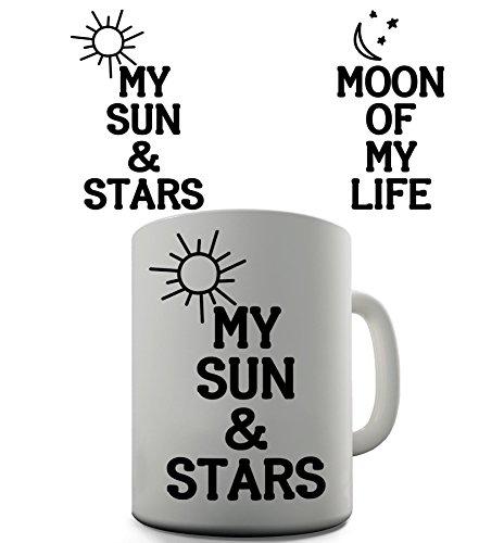 Moon Stars Sun Funny Design Novelty Gift Tea Coffee Office Mug