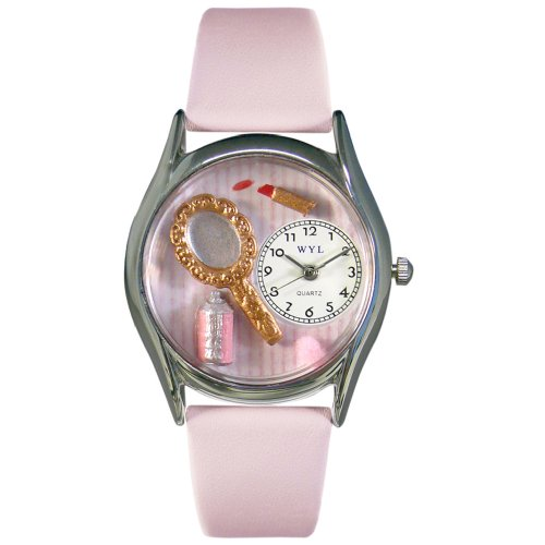 Whimsical Watches Women's S0620005 Make-Up Pink Leather Watch