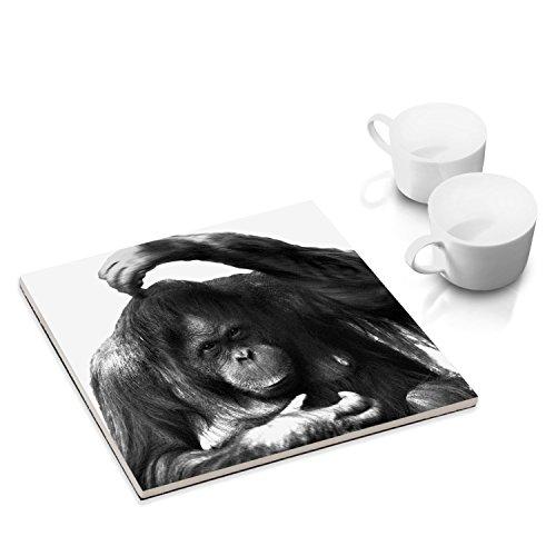 Keramik-Untersetzer-mit-Filzuntersatz-fr-Esstisch-und-Kche-15-x-15-cm-mit-Tier-Motiv-Orang-Utan