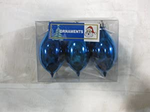 Shiny Metallic Blue Teardrop Shaped Christmas Tree Ornament (6 Pack). This Ornament Is An Ideal Addition To Your Family's Christmas Tree Because It Has Numerous Coordinating Styles, Shapes, Colors & Sizes That Are Also Available.