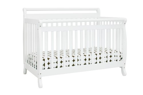 DaVinci Emily 4 in 1 Convertable Crib with Toddler Rail, White