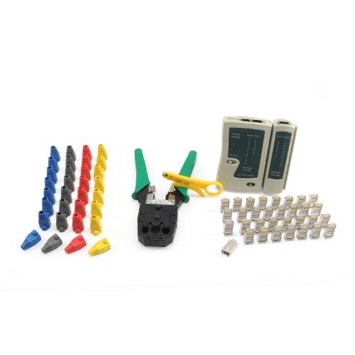 Incutex-Netzwerk-Werkzeug-Set-66tlg-Crimpzange-Kabeltester-Netzwerkstecker-Kunststoffhlsen-Kabelschneider-LAN