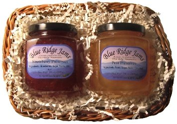 Gift Basket Combo, Strawberry Preserves and Pear