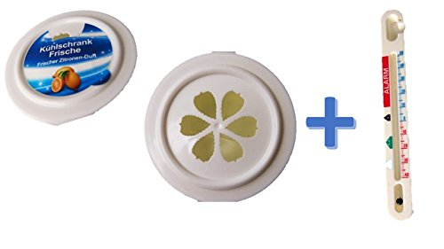 Kühlschrank Frische Limone 1 Stück für Kühlschrank + Thermometer