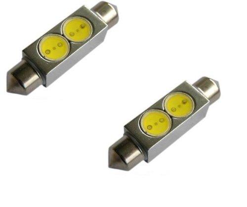 42mm LED Bulbs Pair White 6000K 576, 578, 211-2,