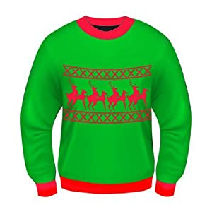 Funny Christmas Mug-- Christmas Sweater-- Ugly Christmas Sweater!!-- Christmas Costume-- Choose Your Style!! (Large, Reindeer Games)