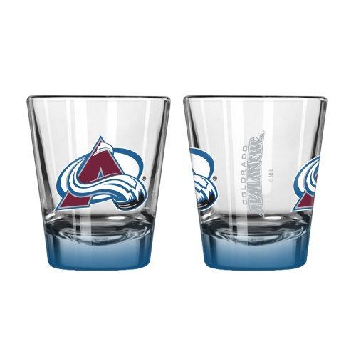 NHL Colorado Avalanche Elite Shot Glass Set (2-Pack), 2-Ounce