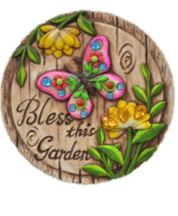 Garden themed cement stepping stones with sayings for Garden stones with sayings