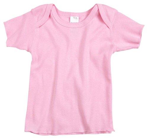 Rabbit Skins Infant Lap Shoulder T-Shirt, Pink , 18M