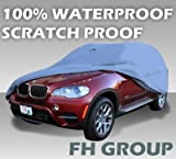 41xOwoHlmUL. SL160  FH 602SUV FINAL SALE No Return/Exchagne, 100% Waterproof Car Cover for SUV, Hatchback, Wagon and Minivan, PVC + Non woven Material,Sizes XXL Fit Overall Length 196 220, No Secure Strap Included