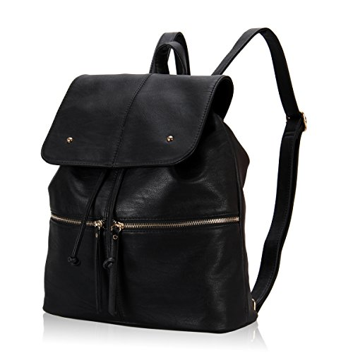 Hynes Eagle Refined Woman Flap Backpack (Black)