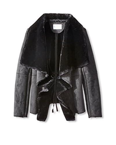 Velvet by Graham & Spencer Women's Faux Shearling Drape Jacket