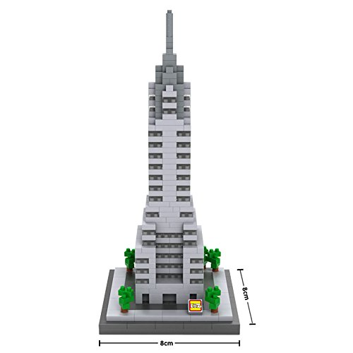 YouCute Loz Micro Blocks - Chrysler building - Small Building Block Set - Nanoblock Compatible 550 pcs