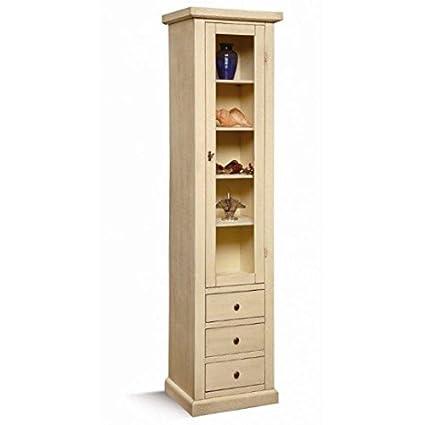 Mobili.-Lacquered Wood Column Arte povera Col Ivory Patina-codluis 240-240F