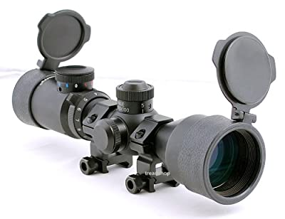 Hammers Illuminated Riflescope Compact Short Rifle Scope AR15 BDC 3-9x42 Weaver Rings from Hammers