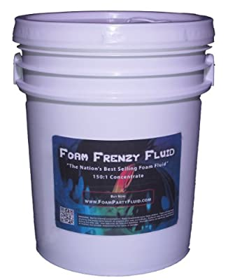 5 Gallons of Foam Frenzy Fluid (Foam Party) 150:1 Concentrate by FoamPartyFluid.com