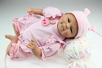 NPK 18inch 45CM poupee Trompette bébé reborn Baby réaliste Fille Doux silicone Vinyle pas cher Mignon Doll toddler Jouet Petite Sucette magnétique