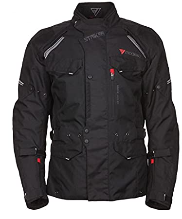 Modeka veste en tissu noir taille 6XL striker