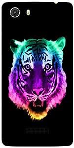 Snoogg Neon Tiger Designer Protective Back Case Cover For MICROMAX UNITE 3