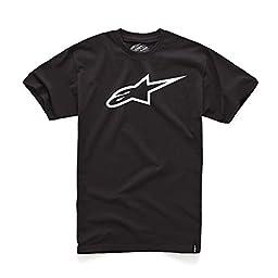 ALPINESTARS Men\'s Ageless Classic T-Shirt, Black/White, Medium