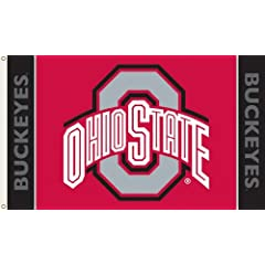 NCAA Ohio State Buckeyes 3-by-5 Foot Flag with Grommets by BSI