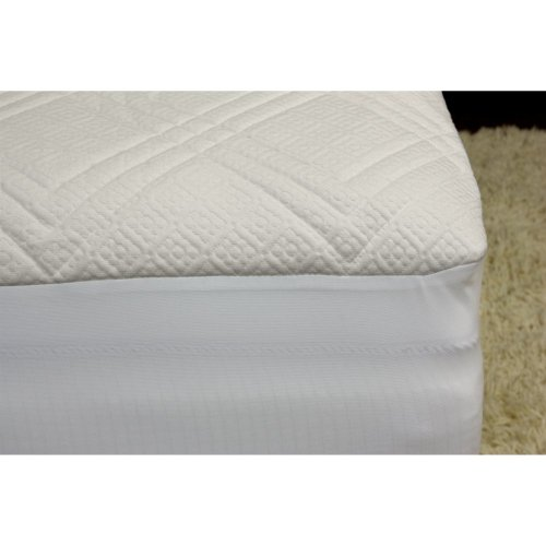 Rio Home Fashions Rio Home Fashions 1/4 In. Quilted Memory Foam Mattress Pad, White, Memory Foam, Twin front-657494