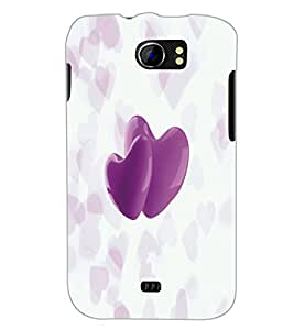 PrintDhaba Hearts D-4995 Back Case Cover for MICROMAX A110 CANVAS 2 (Multi-Coloured)