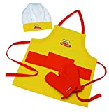 Curious Chef 4-Piece Child Chef Textile Set, Yellow and Orange