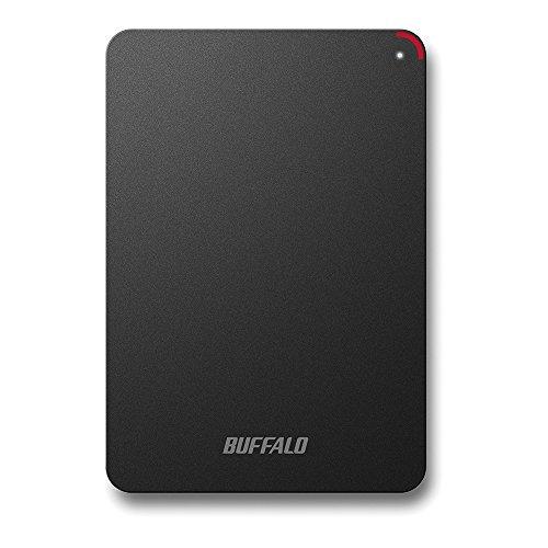 BUFFALO USB3.0接続 PC対応 耐衝撃 フラットデザイン おでかけロック ポータブルHDD 4TB ブラック HD-PSF4.0U3-GB/N [フラストレーションフリーパッケージ(FFP)]
