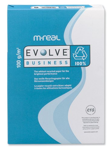 Evolve Business Paper Premium Recycled 100gsm 500 Sheets per Ream A4 White  - Ref 85095 (1 Ream)
