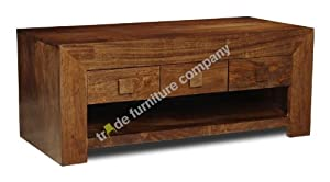 Dakota Indian Furniture 6 Drawer Coffee Table   Living Room Furniture       reviews and more news