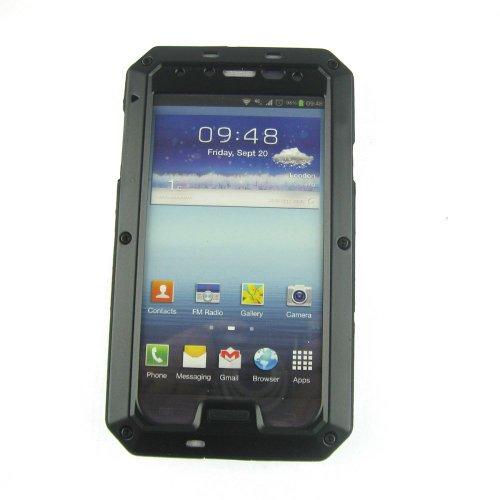 Ek Aluminum Metal Protective Armor Cases W/ Gorilla Glass For Samsung Galaxy S4 I9500, Black